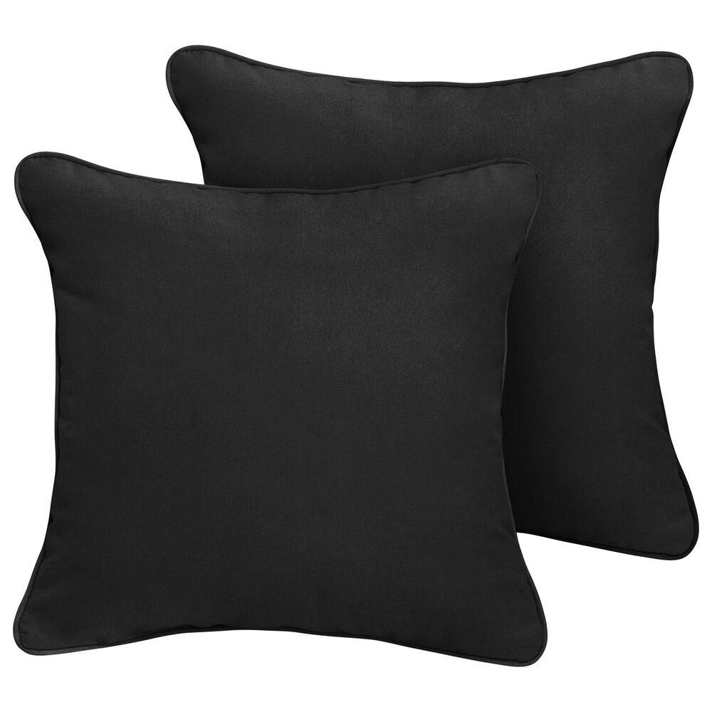 "Sorra Home Sunbrella 18"" Pillow in Canvas Black (Set of 2), , large"