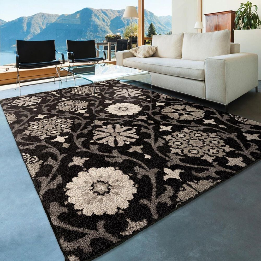 """Orian Amer Heritage Chico 4304 5'3"""" x 7'6"""" Seal Area Rug, , large"""