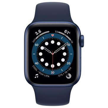 Apple Watch Series 6 GPS + Cellular 40mm with Deep Navy Sport Band in Blue Case with AppleCare+, , large