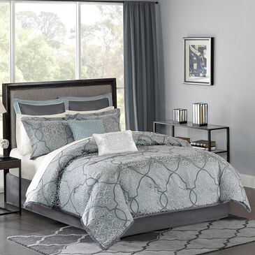 Goldstar Bedding Lavine 12-Piece Queen Comforter Set in Blue, , large