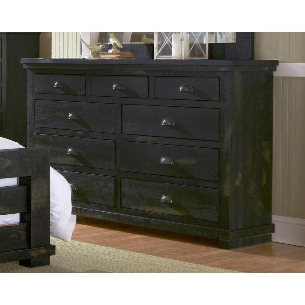 Tiddal Home Willow 9 Drawer Dresser in Distressed Black, , large