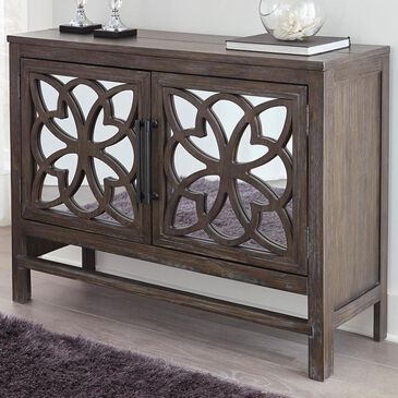Signature Design by Ashley Alvaton Accent Cabinet in Antique Brown, , large