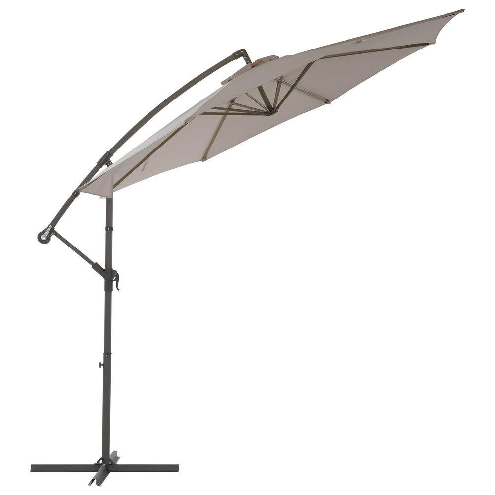 CorLiving 9.5' UV Resistant Patio Umbrella in Sand Grey, , large