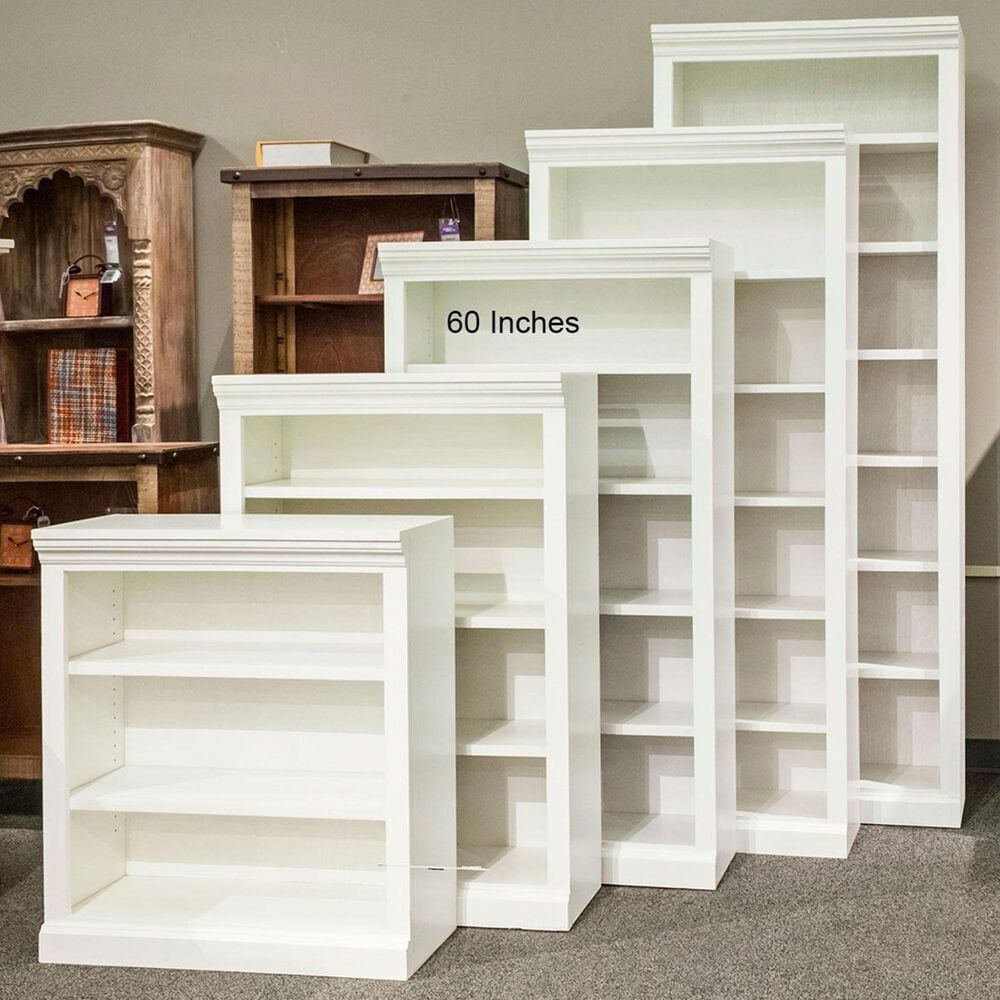 "Nineteen37 60"" Bookcase in White, , large"