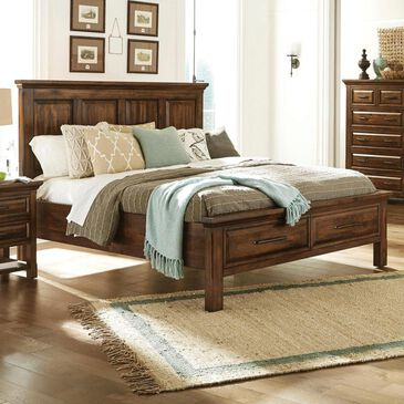 Napa Furniture Design Hill Crest Queen Storage Bed in Dark Chestnut, , large