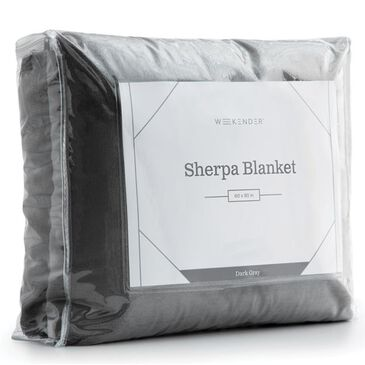 Malouf Sherpa Blanket in Dark Grey, , large