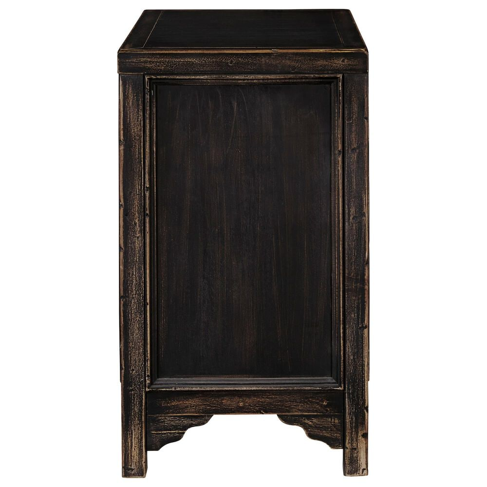 Signature Design by Ashley Gavelston Chairside Table in Rubbed Black, , large