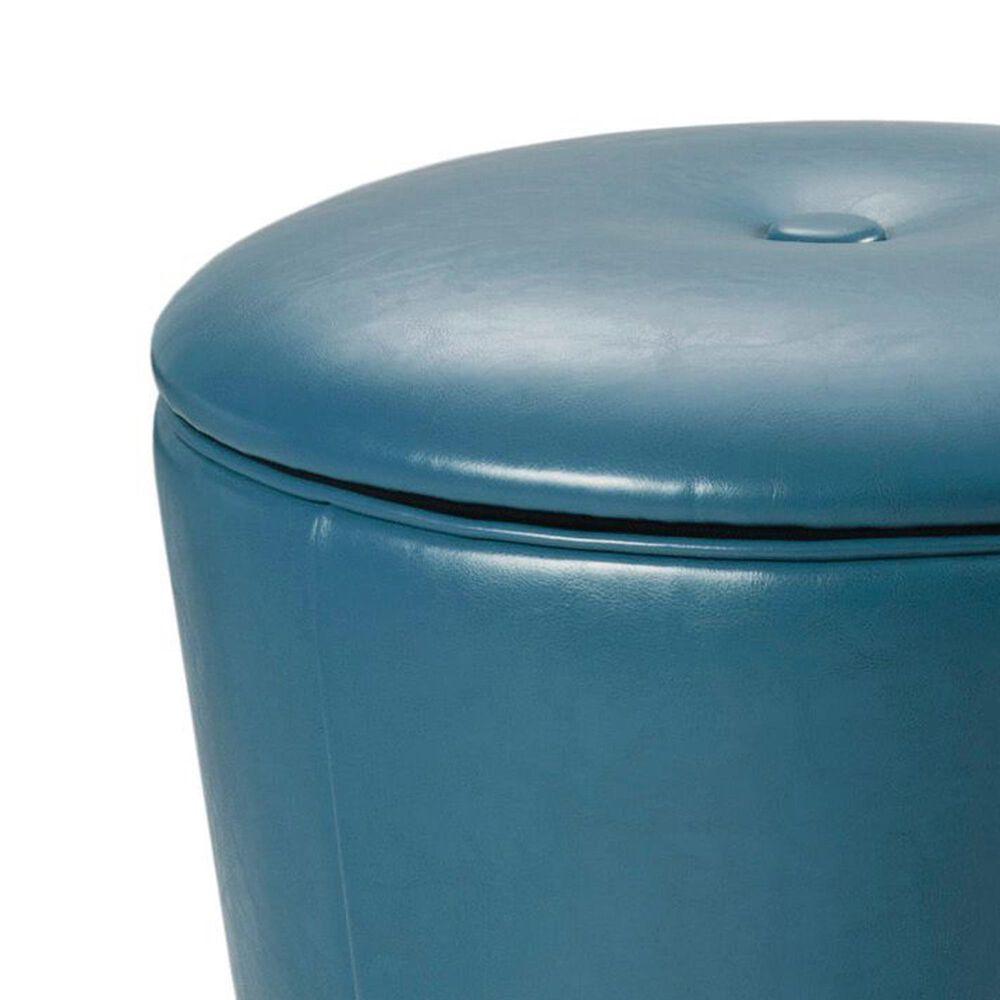 Hampton Park Crosby Storage Ottoman in Blue, , large