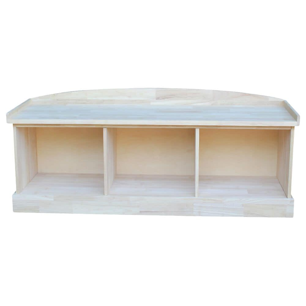 International Concepts Storage Bench in Unfinished, , large