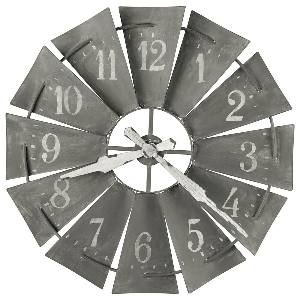 Howard Miller Windmill Oversized Wall Clock in Antique Brownish Charcoal, , large