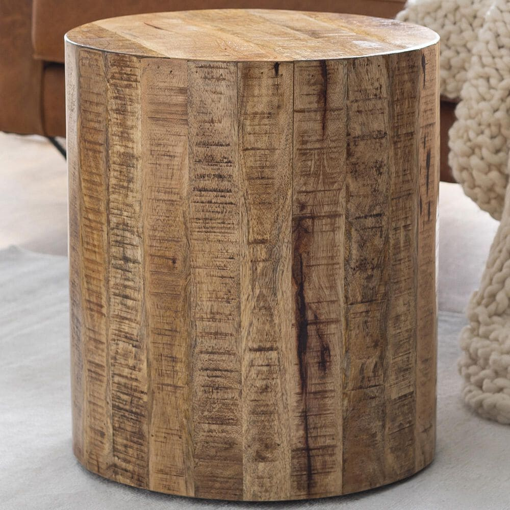 Surya Inc Troyes End Table in Natural, , large