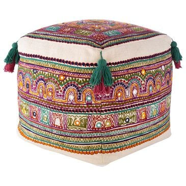 Surya Inc Ridhi Pouf in Multi, , large