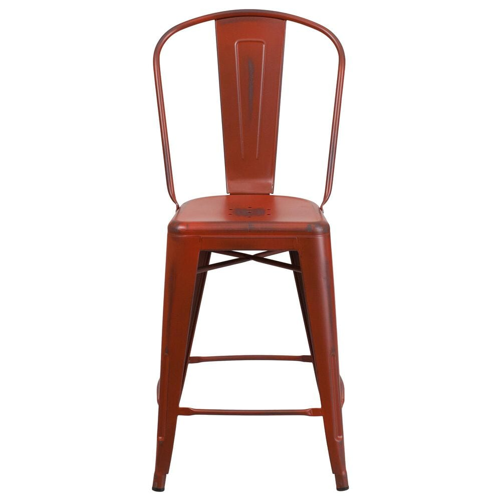 """Flash Furniture 24"""" Counter Stool in Red, , large"""