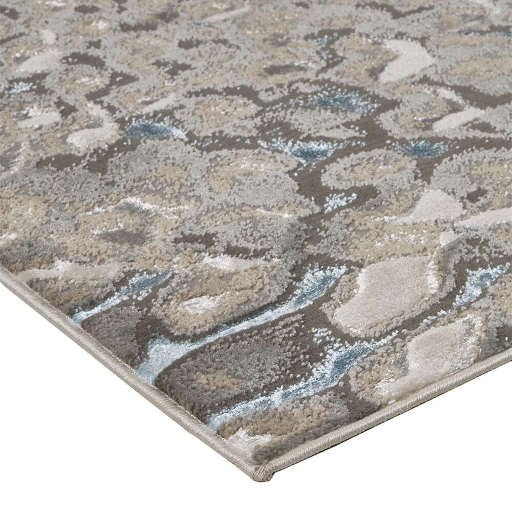 Feizy Rugs Azure 3403F 8' x 11' Blue and Silver Area Rug, , large