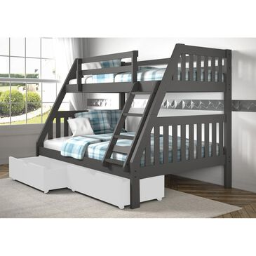 Cambria Designs Twin over Full Bunk Bed in Gray, , large