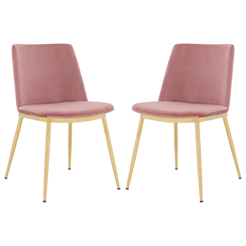 Blue River Messina Dining Chair in Rose Pink (Set of 2), , large