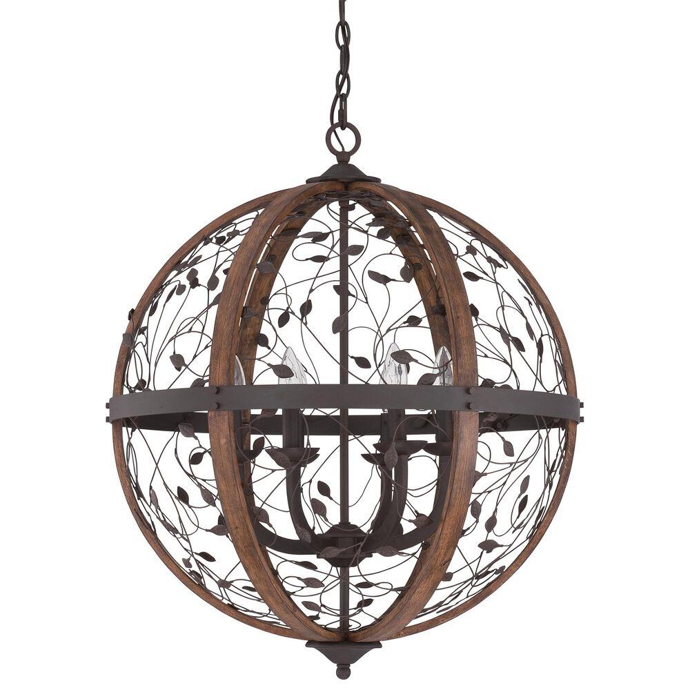 Quoizel Chamber 6-Light Pendant in Darkest Bronze, , large