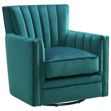 Mayberry Hill Loden Swivel Chair in Royale Peacock, , large