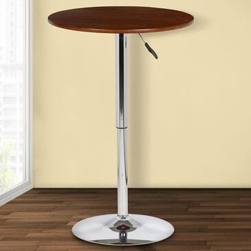 Blue River Bentley Adjustable Pub Table in Walnut and Chrome, , large