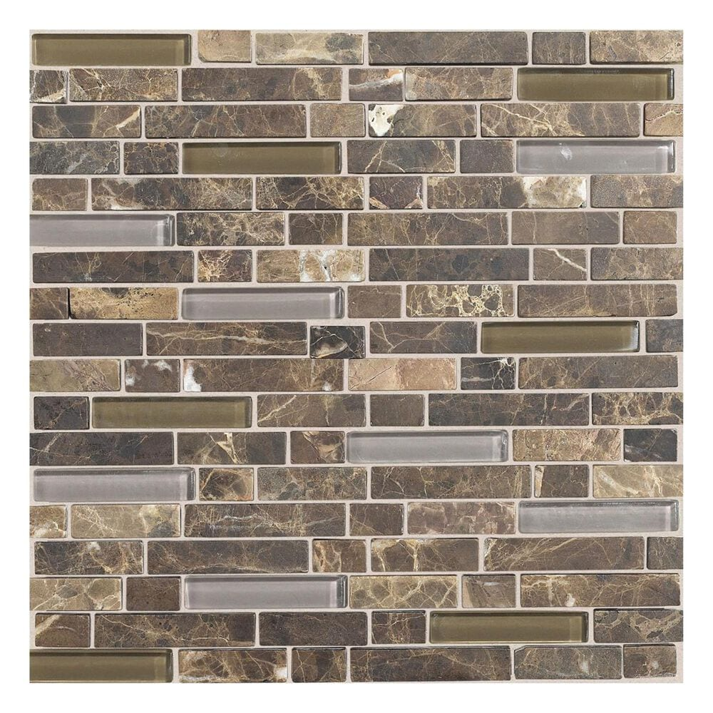 Dal-Tile Stone Radiance Random Size Mosaic Tile in Wisteria and Tortoise, , large