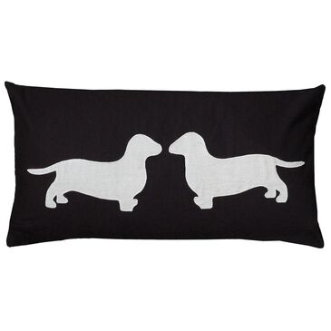 """Rizzy Home 11"""" x 21"""" Pillow Cover in White and Black, , large"""