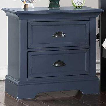 Bakersfield Tamarack 2-Drawer Nightstand in Blue, , large