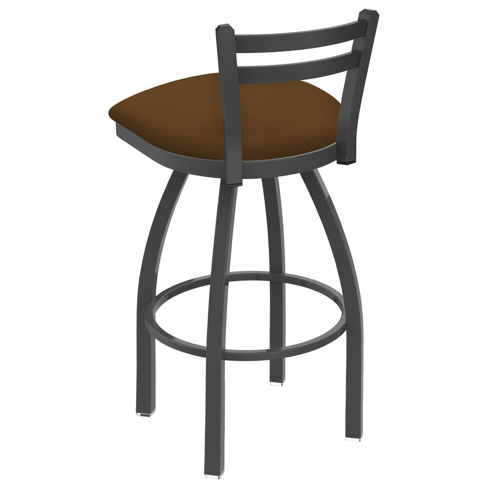 """Holland Bar Stool 411 Jackie 25"""" Low Back Swivel Counter Stool with Pewter and Canter Thatch Seat, , large"""