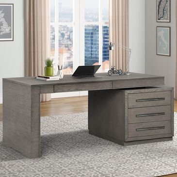 Simeon Collection Pure Modern Executive Desk in Moonstone, , large