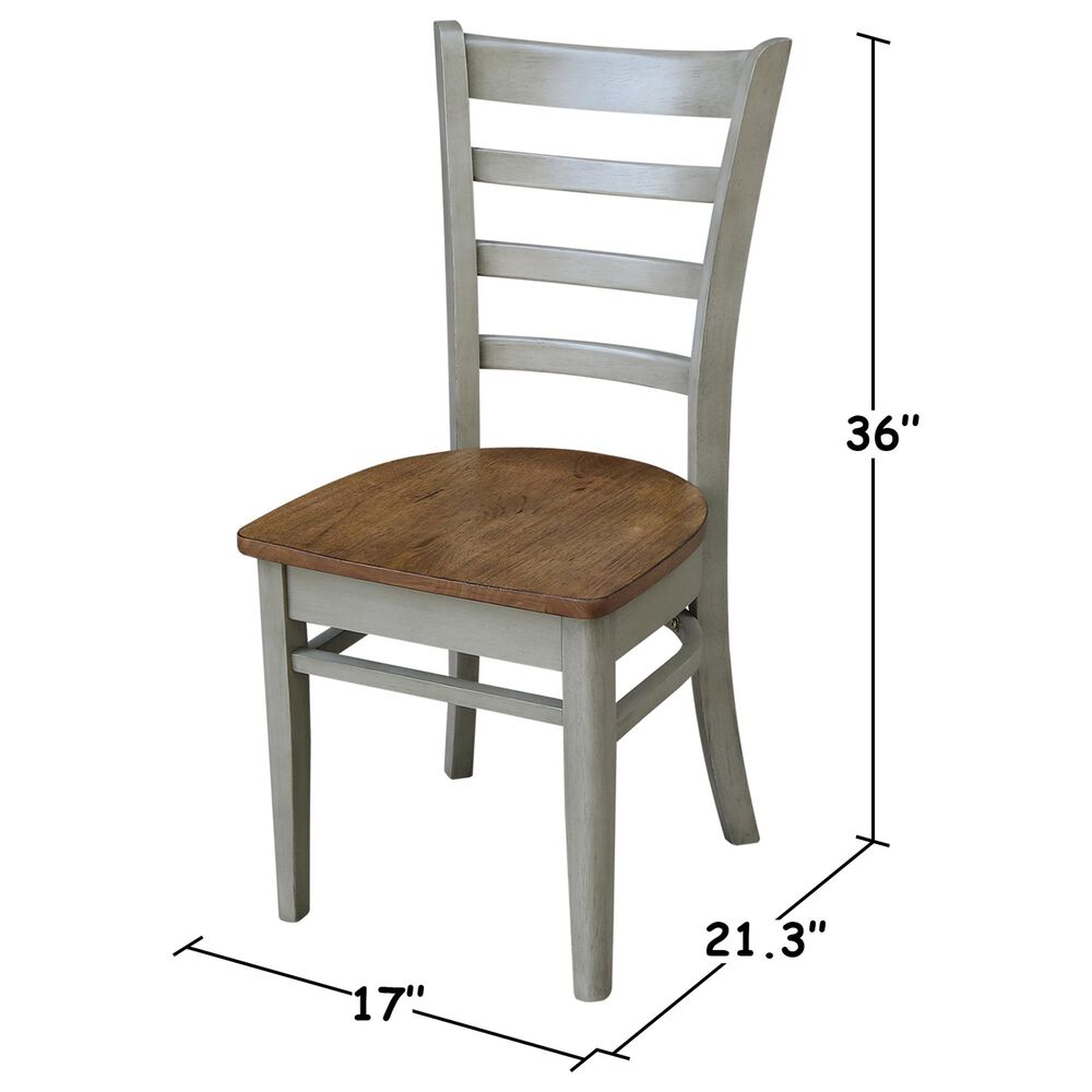 International Concepts Emily Dining Chair in Hickory/Stone, , large