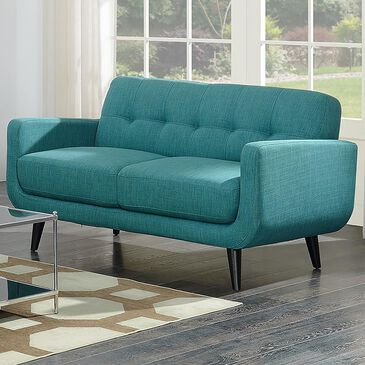 Mayberry Hill Hadley Loveseat in Heirloom Teal, , large