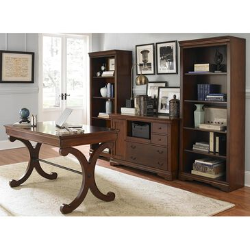 Belle Furnishings Brookview 4-Piece Desk Set in Rustic Cherry, , large