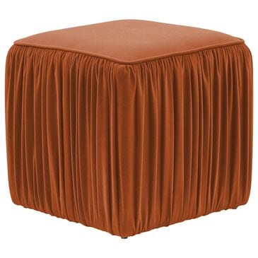Tov Furniture Morgan Ottoman in Cognac Velvet, , large