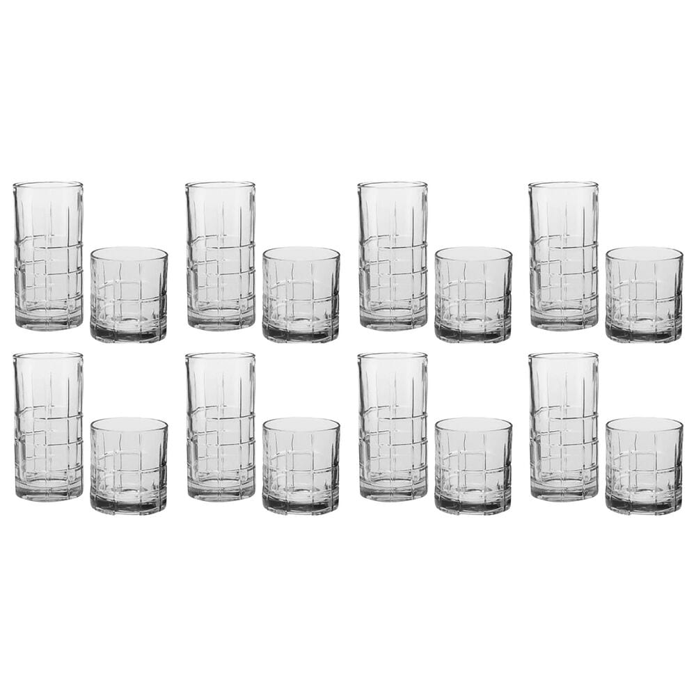 Anchor Hocking Manchester 16-Piece Glass Drinkware Set in Clear, , large