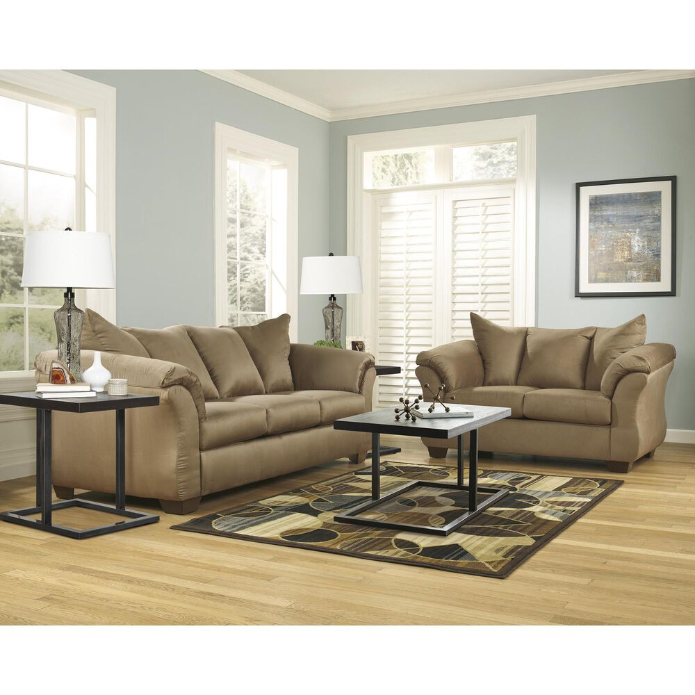 Signature Design by Ashley Darcy Stationary Loveseat in Mocha, , large