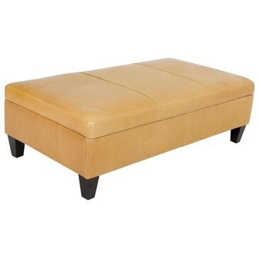 Moda Ashbury Leather Storage Ottoman in Echo Lager, , large