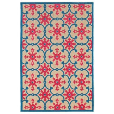 "Oriental Weavers Cayman 190L 9'10"" x 12'10"" Sand and Pink Area Rug, , large"
