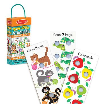 Melissa & Doug Poke-a-Dot Numbers Learning Cards, , large