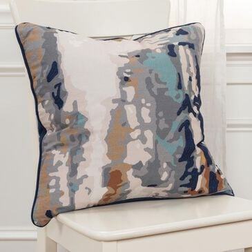 """Rizzy Home Connie Post 20"""" Poly Filled Pillow in Gray/Navy, , large"""