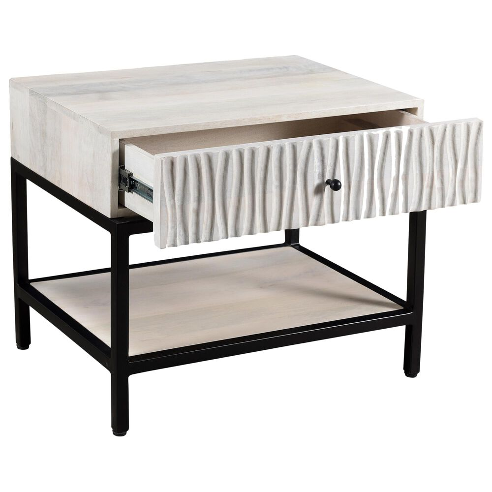 Moe's Home Collection Faceout 1 Drawer Nightstand in White, , large