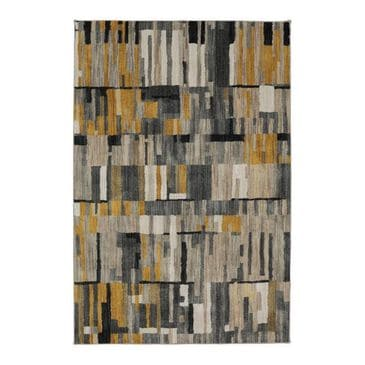 """at HOME Muse Bacchus 91017 8"""" x 11"""" Mustard Area Rug, , large"""