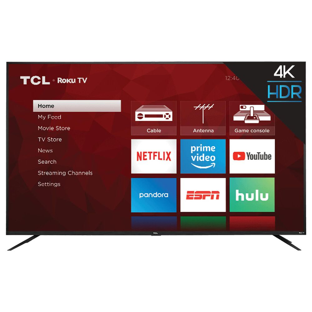 """TCL 75"""" Class 4K UHD HDR Roku - Smart TV with 3.1 Atmos Sound Bar System, , large"""
