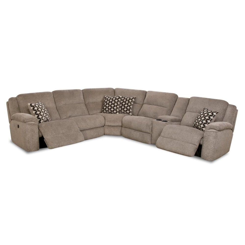 at HOME Catalina 3-Piece Left Facing Power Reclining Sectional in Platinum , , large