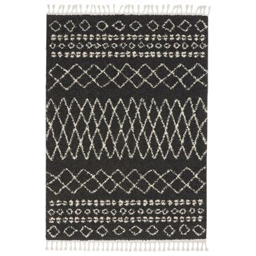 "Nourison Moroccan MRS02 7'10"" x 10'6"" Charcoal Area Rug, , large"
