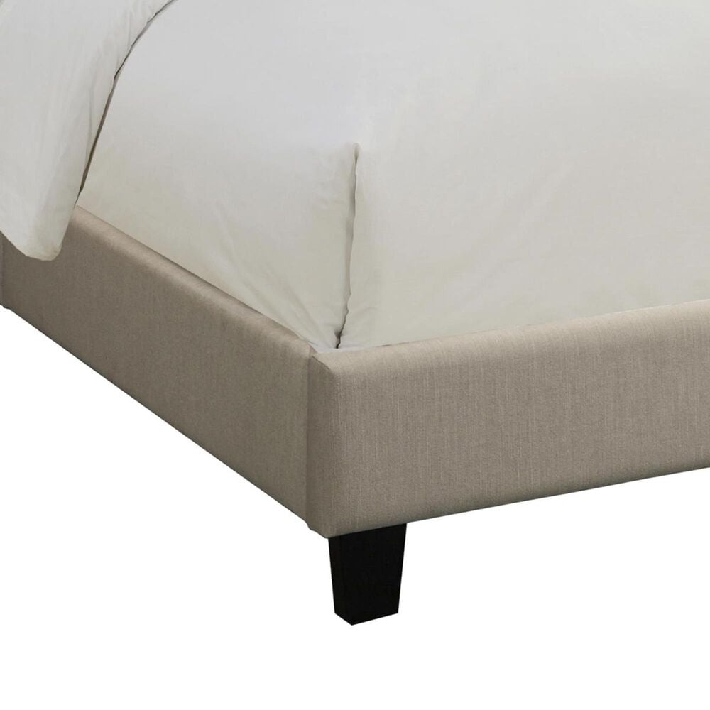Accentric Approach Benton King Upholstered All-In-One Bed in Beige, , large
