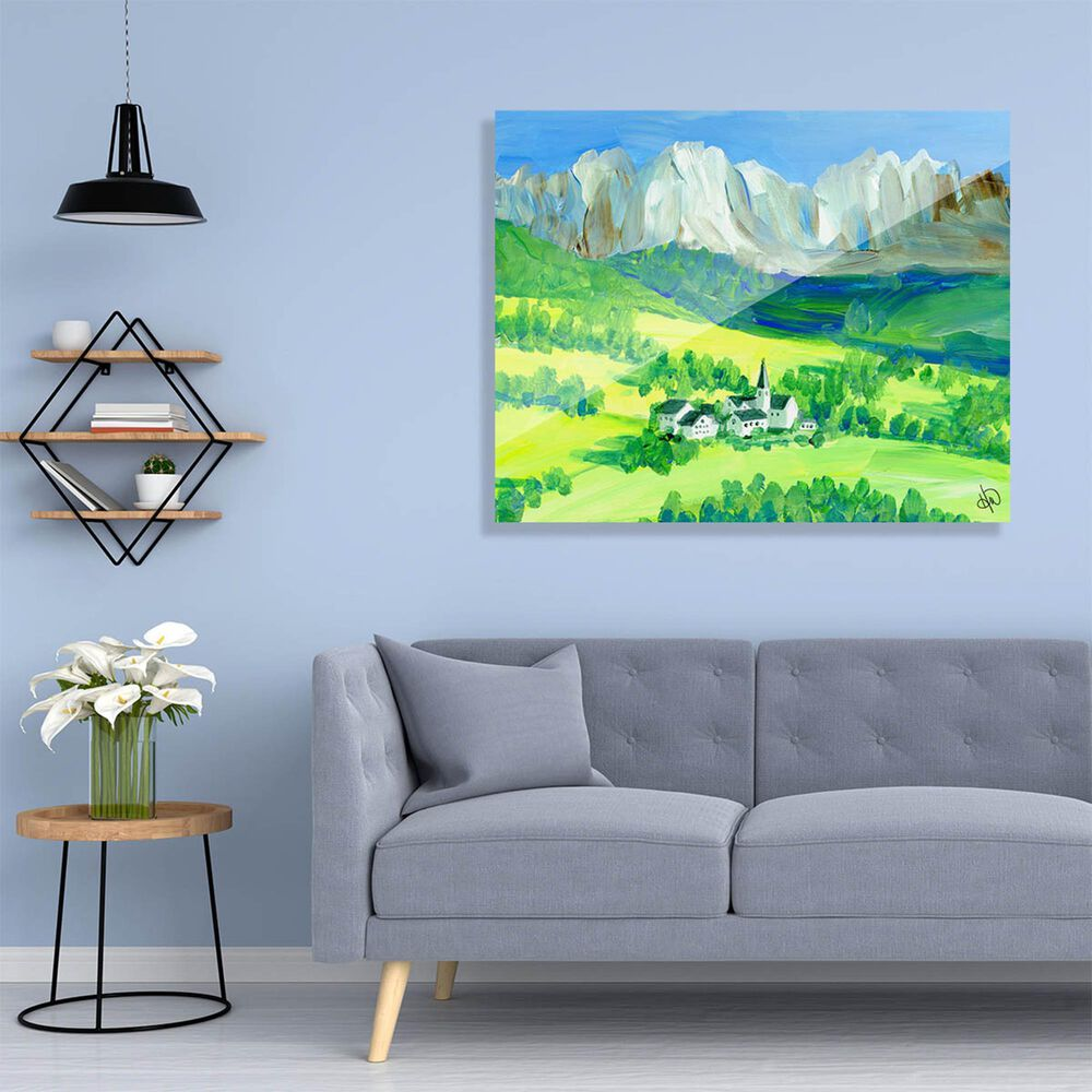 "Kathy Ireland Home ""Swiss Alps"" 11"" x 14"" Acrylic Wall Art Print, , large"