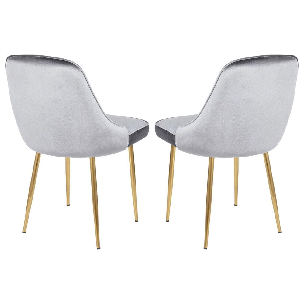 Lumisource Marcel Dining Chair in Blue/Gold (Set of 2), , large