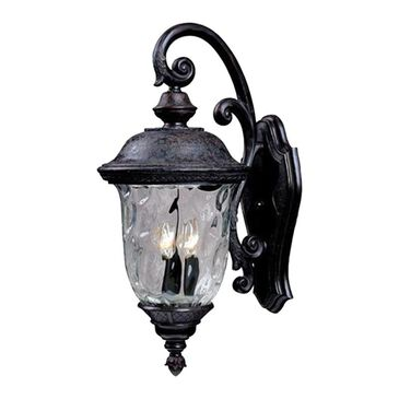 """Maxim Lighting Carriage House DC 12.5"""" x 26.5"""" 3 Light Outdoor Wall Lantern in Oriental Bronze, , large"""