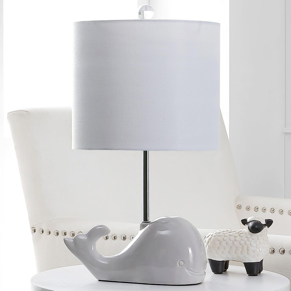 Safavieh Walter Whale Table Lamp in Grey, , large