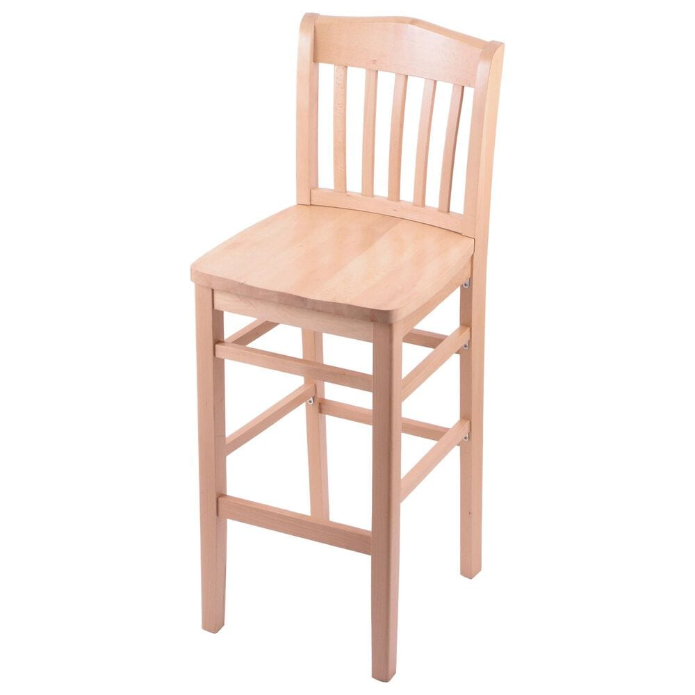 """Holland Bar Stool 3110 25"""" Counter Stool with Natural Finish and a Natural Seat, , large"""