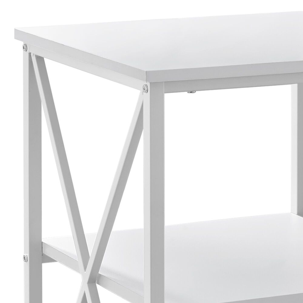 Monarch Specialties Accent End Table in White, , large